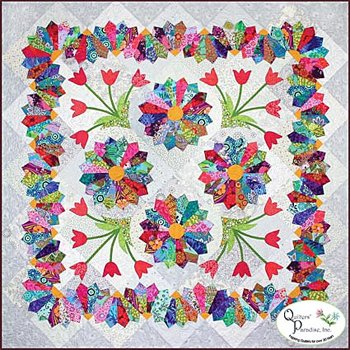 Dresden Flower Patch Quilt Pattern by Quilters' Paradise