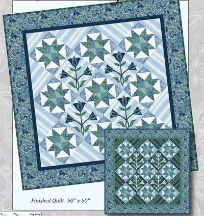 Dusky Gardens Quilt Pattern by Designs by Sarah J