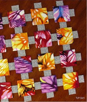 Easy Magic Floating Squares Tablerunner Pattern by Tiger Lily Press