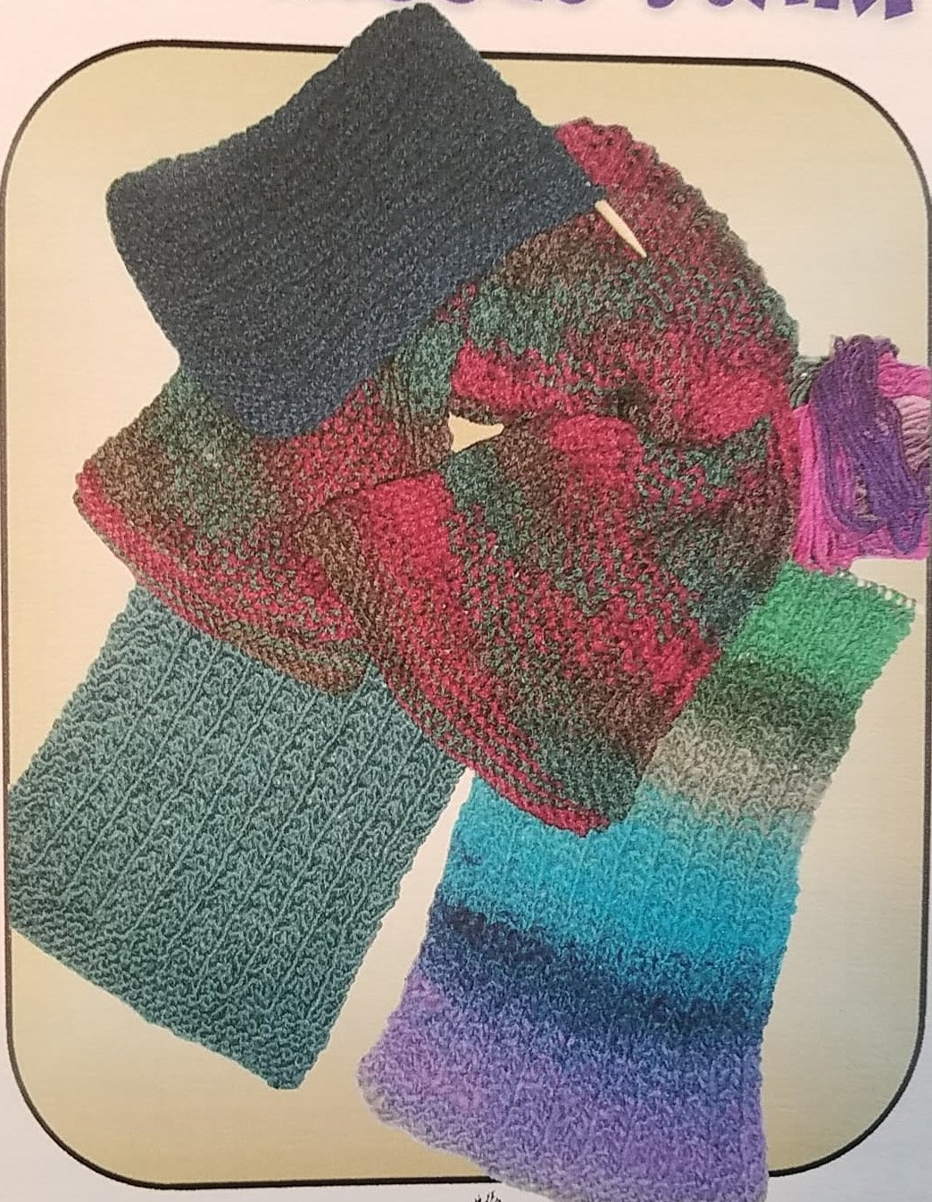 Easy Ribbed Scarf Hand Knitted Pattern by Graywood Designs