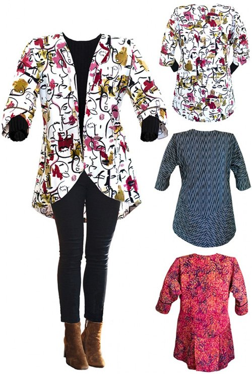 Easy Three-sy Jacket Pattern in 3 Styles by CNT Pattern Company