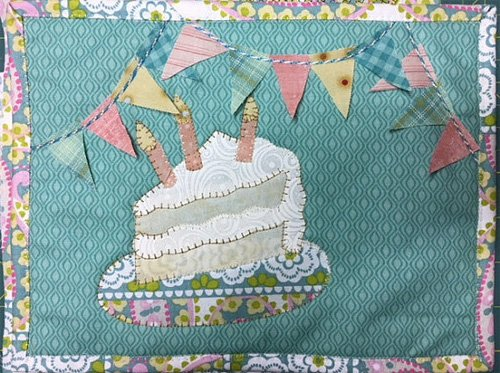 Eat Cake! Mug Rug Pattern by Quilt Doodle Designs