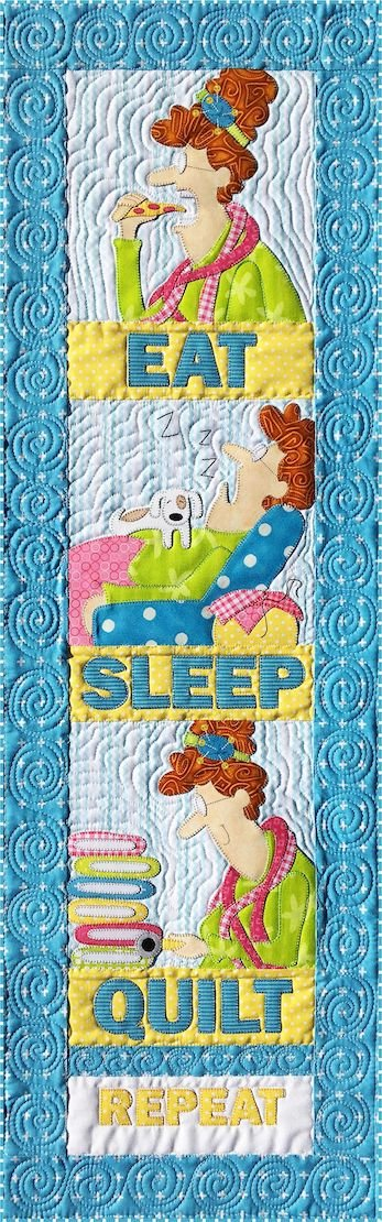 Eat Sleep Quilt Wallhanging Pattern by Amy Bradley Designs