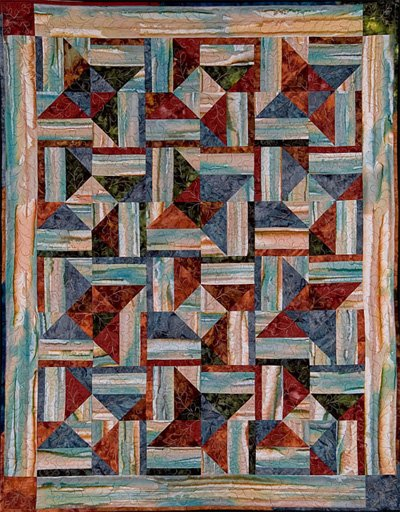 Echo Stars Quilt Pattern by Far Flung Quilts