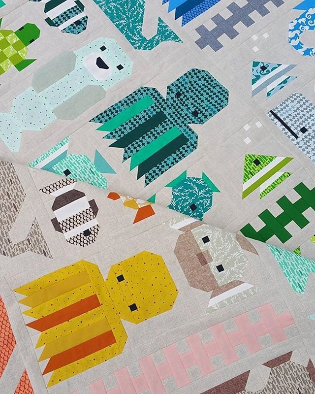 Awesome Ocean Sampler Quilt Pattern by Elizabeth Hartman