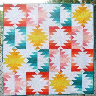 Solar Eclipse Quilt Pattern in 3 Sizes by Elizabeth Hartman