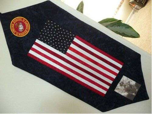 Family Honor Wallhanging Pattern, Marines, by Empty Nest Quilting
