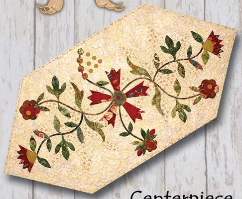Moose Trax Centerpiece Table Runner Pattern by Antler Quilt Designs