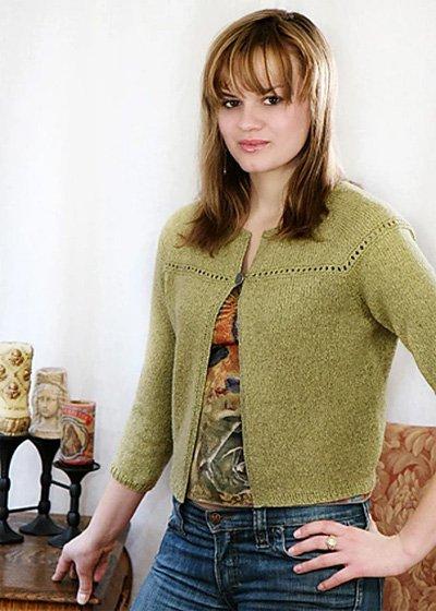Eyelet Cardi Knitting Pattern by Chic Knits