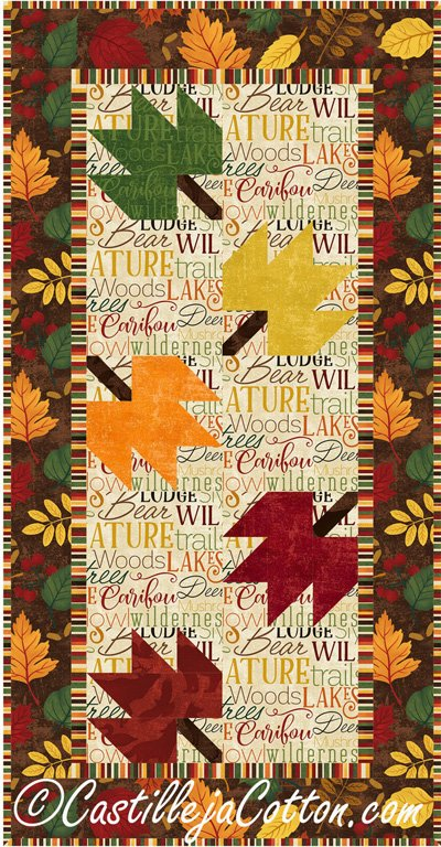 Falling Leaves Tablerunner Epattern by Castilleja Cotton