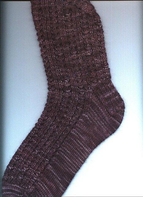 Fancy Shell Footstool Knitted Sock Pattern by Pamela Pascal Rush
