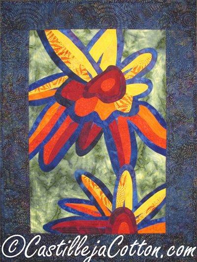 Fantasy Petals Quilt Epattern by Castilleja Cotton