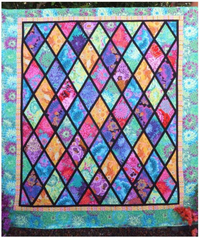 Fassett Queen Flurry Quilt Pattern by Willow Brook Designs