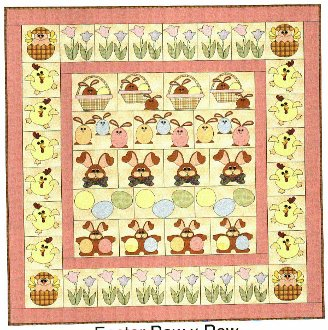 Easter Row By Row Quilt Pattern by Fat Cat Quilts