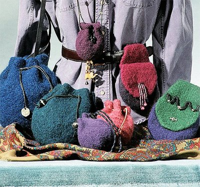 Felt Pouches and Belt Bag Knitting Pattern in 3 Sizes by Fiber Trends