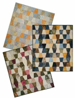 Charmed Tumbler Quilt Pattern in 4 Sizes by Far Flung Quilts