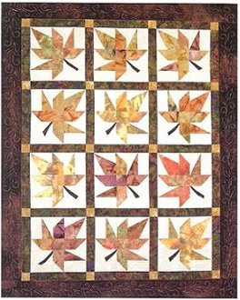 Lazy Leaves Quilt Pattern by Far Flung Quilts