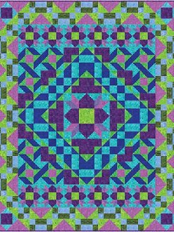 Snake in the Grass Quilt Pattern by Frog Hollow Designs