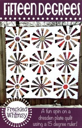 Fifteen Degrees Quilt Pattern by Freckled Whimsy