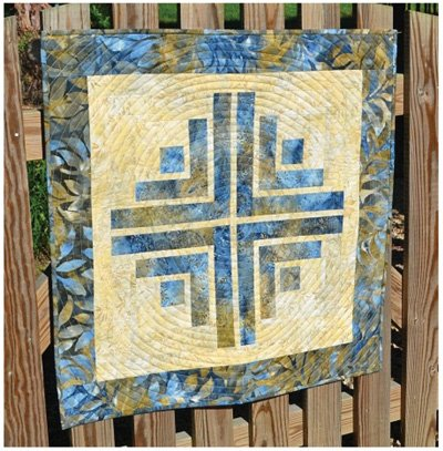 Floating Cabin Quilt Pattern by Cut Loose Press