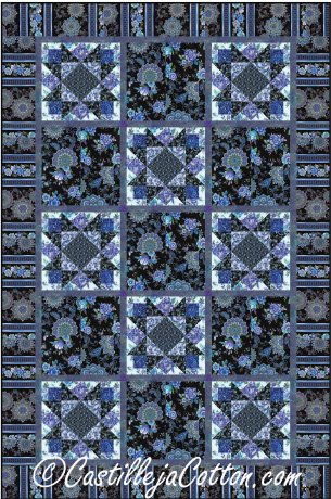 Floral Stars Quilt Pattern by Castilleja Cotton