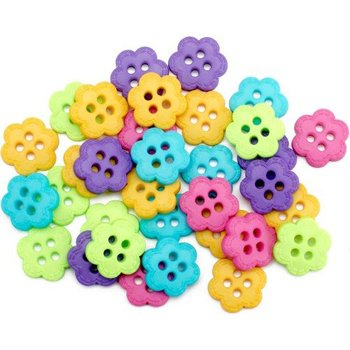 Flower Candy Set of 20 Buttons by Dress It Up