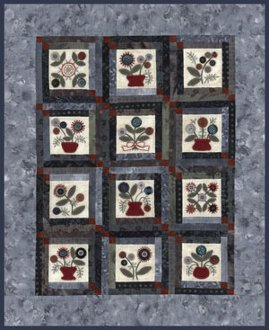 Kari Anne's Garden of Buttons Quilt Pattern by From My Heart to Your Hands