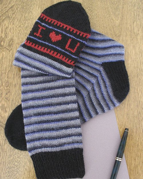 Foot Notes Sock Knitting Pattern by Betsy Lee McCarthy of Fiber Trends