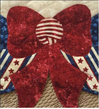 Freedom All Around Us Table Topper Pattern by Quilted Garden