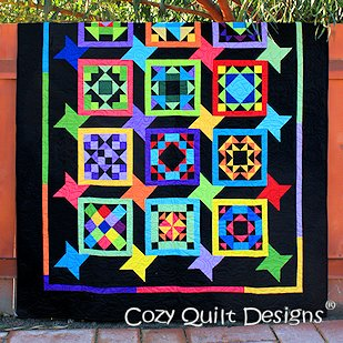 Friendship Corner Quilt Pattern in 3 Sizes by Cozy Quilt Designs