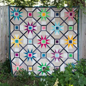 Cosmic Delight Quilt Pattern in 6 Sizes by Freckled Whimsy