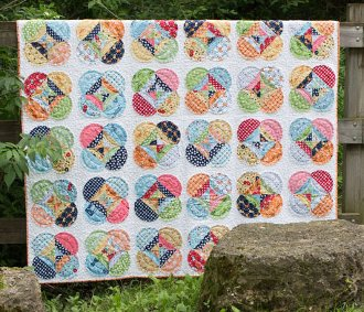 Harmony Raw Edge Applique Quilt Pattern in 7 Sizes by Freckled Whimsy