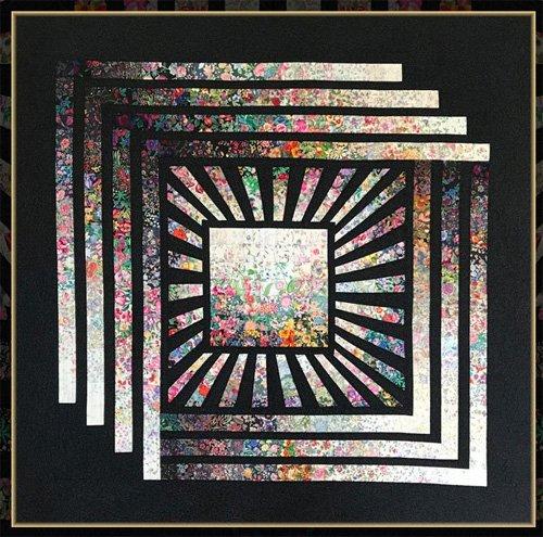 Garden Cube Quilt Pattern by Kwiltart