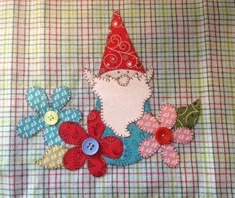 Garden Gnome Wallhanging by Quilt Doodle Designs