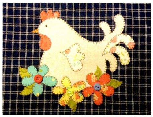 Garden Hen Mini Quilt Pattern by Quilt Doodle Designs