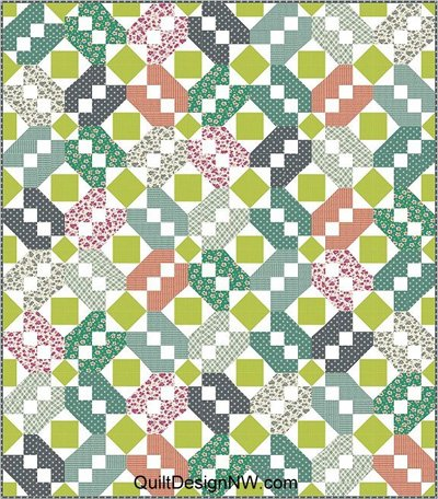 Gathering Quilt Pattern in 3 Sizes by Quilt Design NW