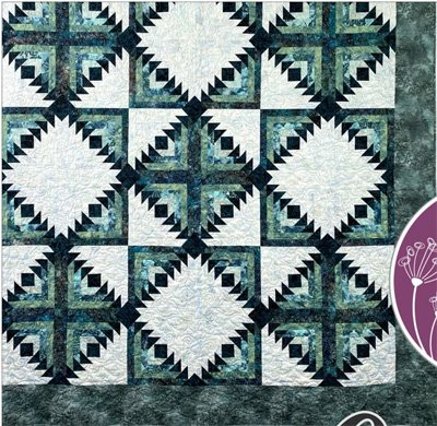 Geese in the Cabin Quilt Pattern by Cut Loose Press