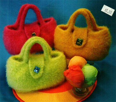 Gelato Bag Knitting and Felting Pattern by Fiber Trends