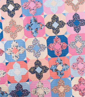 Geo Gems Quilt Pattern in 3 Sizes by Quilty Love