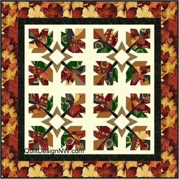 Get Set for Fall Too Quilt Wallhanging and Tablerunner Pattern by Quilt Design NW