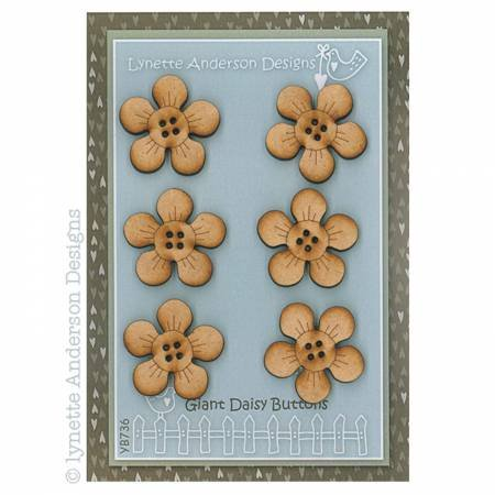 Giant Daisies Set of 6 Button Pack by Lynette Anderson Designs