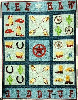 Giddy Up Quilt Pattern by Amelie Scott Designss