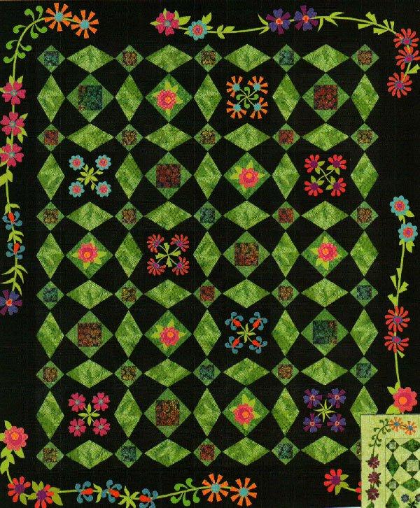 Prairie Petals Quilt Pattern by Garden Trellis Designs