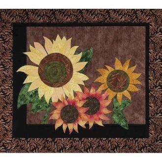 Summer Sunflowers Wallhanging Pattern by Garden Trellis Designs