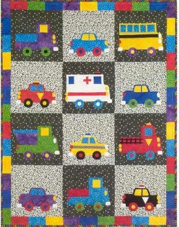 Wheels Kid's Quilt Pattern by Garden Trellis Designs