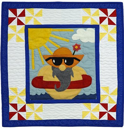 Gustav the Gnome September Block from the Gnomio Quilt EPattern by Charisma Horton