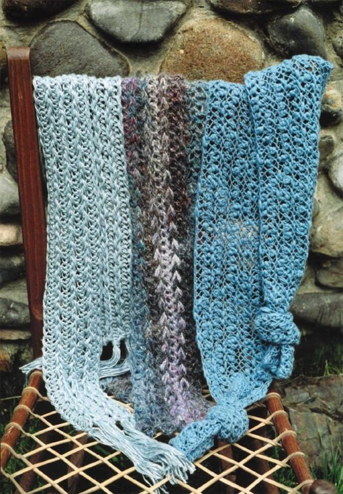 Hairpin Lace Scarves Crochet Pattern by Oat Couture