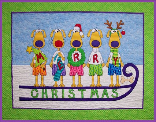 Hairy Christmas Wallhanging Epattern by Amy Bradley Designs