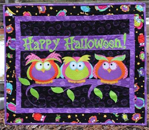 Halloween Hooters Applique Wallhanging Pattern by Whistlepig Creek
