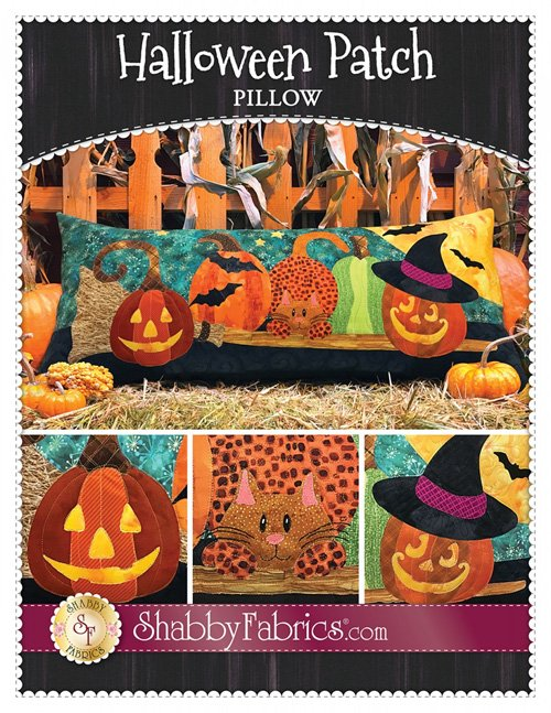 Halloween Patch Pillow Pattern by Shabby Fabrics